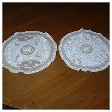 Set 2 Old Cotton Embroidery & Lace Rounds