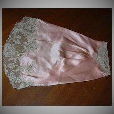 Ecru Fine Lace On Original Peach Silk Sleeve