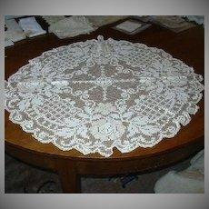Large Filet Crochet Lace Circle