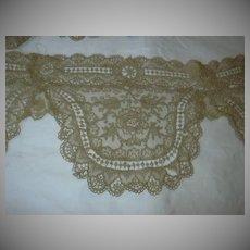 Ecru Antique Lace Clothing Panel