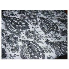 Large Piece Old Black Lace