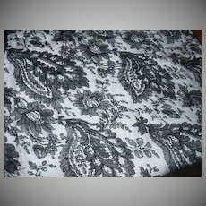 Large Piece Old Black Lace