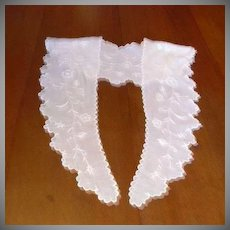 White Batiste Embroidered Long Collar