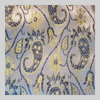 Fine Brocade Paisley Table Runner Scarf Fabric India