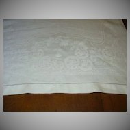 Old White Linen Huck Damask Towel Fine Linens