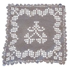 Off White Filet Openwork Small Table Mat Linens