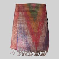 Fine Brocade Large India Table Runner Scarf Fabric