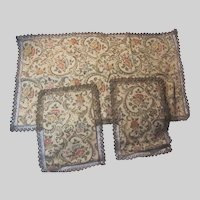 Set Fine Italian Brocade Runner Mats Cloths