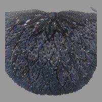 Black Beaded Small Handbag Bag