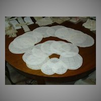 Set 18 Batiste Cotton & Lace Rounds