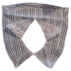 White Crochet Style Collar Ladies Childrens Fashion  Accessory Needlework