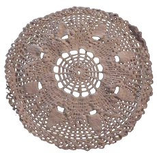 Ecru Crochet Round Doilie Cloth Mat Needlework