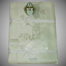 Irish Damask Tablecloth Napkin Set Still In Box
