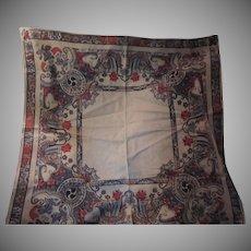 Beautiful Block Printed Cloth Fabric Tablecloth