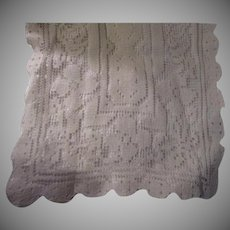 Filet Lace Linen Old Table Runner Dining Linens