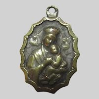 Virgin Mary Our Lady of Perpetual Help Medal With Jesus Sacred Heart