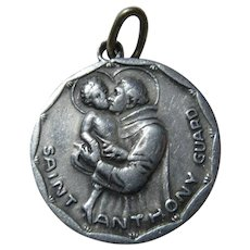 Saint Anthony Guard  & St  Christopher Medal Protection