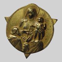 Virgin Mary Infant Jesus Medal Pin