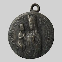 St Anne de Beaupre French Medal