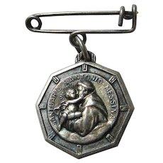 St Anthony Jesus Sacred Heart Medal
