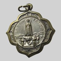 Virgin Mary Our Lady of Fatima Jesus Sacred Heart Medal