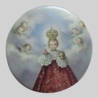 Jesus Infant of Prague Medal Medallion Pin