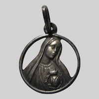 Virgin Mary Our Lady Fatima Small Old Medal