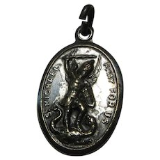 Italian St Michael and Guardian Angel Medal