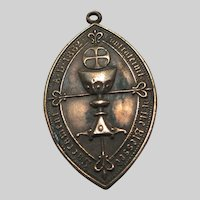 Old Rare Medal Confraternity of Blessed Sacrament Cruucifix Lamb of God