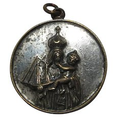 Old Creed Medal Virgin Mary Our Lady of Good Voyage