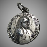 St Bernadette Slider French Reliquary Medal