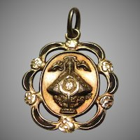 Gold Filled Medal Virgin Mary  Our Lady of San Juan de los Lagos