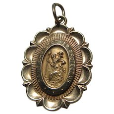 14K Gold St Christopher Medal Small
