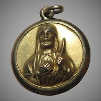 Jesus Sacred Heart Virgin Mary Our Lady of San Juan de los Lagos Gold Medal