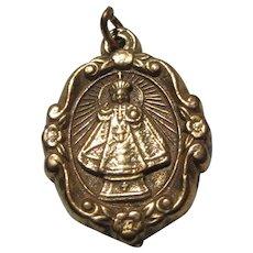 Jesus Infant of Prague And Sacred Heart  Decorative Medal