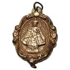 Jesus Infant of Prague Sacred Heart Decorative Medal