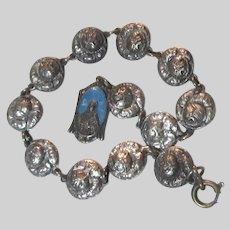 Jesus Sacred Heart Our Lady Medal On Saints Medals Bracelet
