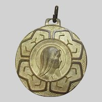 Large Virgin Mary Our Lady of Lourdes Medal