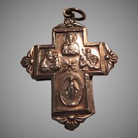 Chapel Sterling Four Way Cross Slider Medal