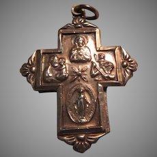 Chapel Sterling Four Way Cross Slider Medal