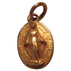 Virgin Mary Miraculous Medal Tiny Medal
