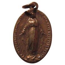 Virgin Mary Miraculous Medal Old