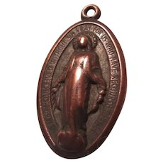 Very Old Large Virgin Mary Miraculous Medal
