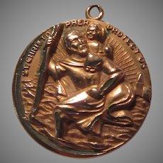 Old Large St Christopher Medal