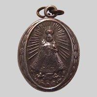 Jesus Infant of Prague Sacred Heart  Small Medal