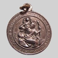 Large St Christopher St Anthony Medal Italy
