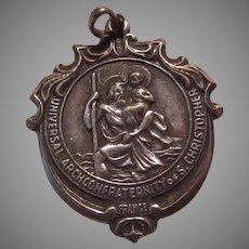 French Ornate St Christopher Medal