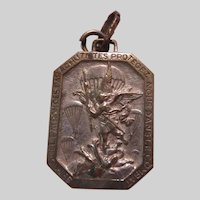 St Micheal Michel Combat Protection Rare Old French Medal