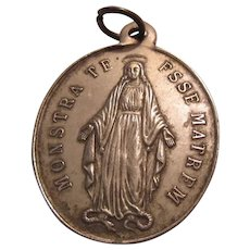 Large French Virgin Mary Medal