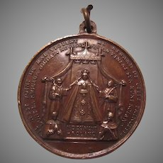 Virgin Mary Our Lady Mont Roland Notre Dame Cathedral Medal